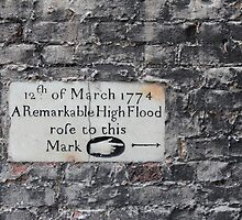 Twickenham flood marker by TheLondonphile