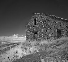 Infrared - Derelict outhouse by TC3 Photography