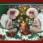 Christmas Angels Greetings by Robin Pushe'e