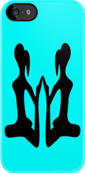 ۞»♥AlluringTwin Girl Practicing on Yoga iPhone & iPod Cases♥«۞ by Fantabulous