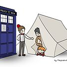 The TARDIS and the magical tent by thegadzooks