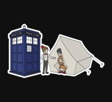 The TARDIS and the magical tent (white glow) by thegadzooks