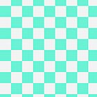 Checkered White and Aqua Pattern by SaradaBoru