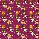 Colorful Halloween Pattern by SaradaBoru