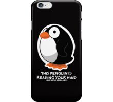 Telepathic Penguin: iPhone Case iPhone Case/Skin