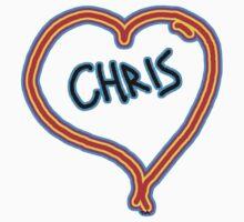 i love Chris heart  Kids Clothes