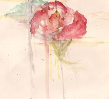 Watercolor rose by s1lence