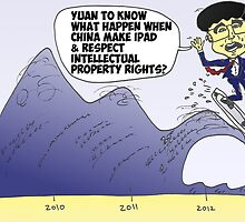 iPad surfer Hu Jintao political cartoon by Binary-Options