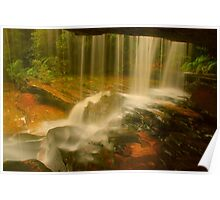 Behind The Curtain .. Lower Somersby Falls Poster