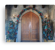 Christmas at the Castle (doors) Canvas Print