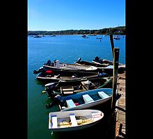 Boats At The Dock - Northport, New York  by © Sophie W. Smith