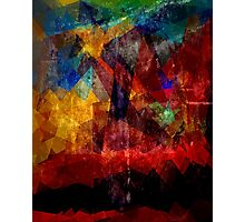 Abstract painting City Lights Photographic Print