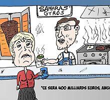 Angela MERKEL et le gyro de Antonis SAMARAS by Binary-Options
