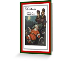 Vintage Christmas Wishes Greeting Card Greeting Card