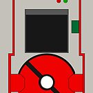 Pokedex 5th Generation iPhone Case - Red by Tomer Abadi