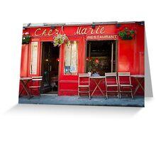 Paris: Chez Marie Greeting Card