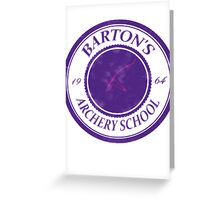 The Barton School of Archery Greeting Card