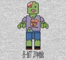 8-Bit Lego Zombie wearing the Mark It 8 Dude T-shirt by Ben Sloma
