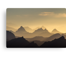 Evening Hues of the Säntis Canvas Print