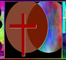 Cross Intersection ~ Triptych by Glenn McCarthy