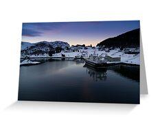 Fjord Dawn Greeting Card