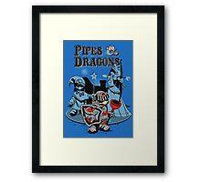 PIPES & DRAGONS Framed Print