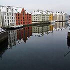 Alesund Harbour, Norway by fg-ottico