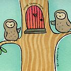 Home Sweet Home Owls by zoel