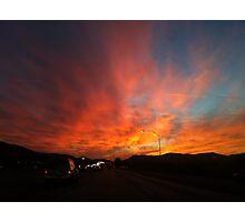 Orange Skys  Photographic Print