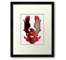 UNSC Fade Red Framed Print