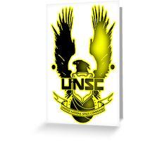 UNSC Yellow Fade Yellow Greeting Card
