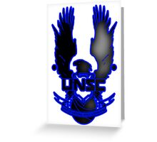 UNSC Fade Blue Greeting Card