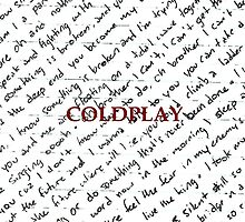 Coldplay Written Lyrics Phone/iPod Case by klause9