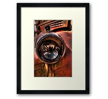 An Eye on the Past Framed Print