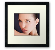 Tricia Helfer by Dennys Ilic Photography Framed Print