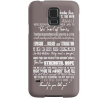 Cherokee Rose Quote Samsung Galaxy Case/Skin