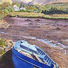 Blue Boat, Adrigole by CliveOnBeara