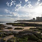 Newcastle Beach, The Rocks by Daniel Rankmore