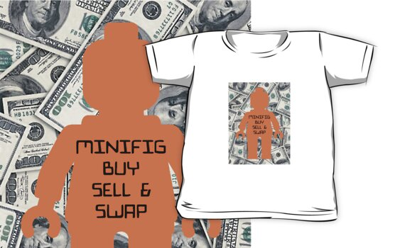 Minifigure Buy, Sell & Swap, Official Facebook Page T-shirt by ChilleeW
