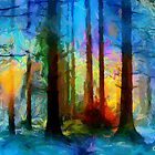 Foggy Forest by DiNovici
