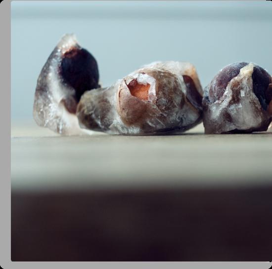 Frozen Avocado Cores by Bjarte Edvardsen