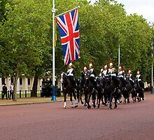Household Cavalry in The Mall by Sue Robinson