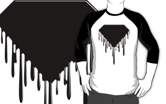 Super Drippy Logo (Black&White) by adamcampen