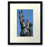 Stonewall on Horse Framed Print
