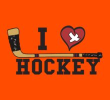 I Love Hockey Kids Clothes