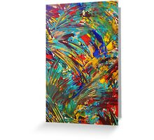 FIREWORKS IN COLOR - Bold Abstract Acrylic Painting Lovely Masculine Colorful Splash Pattern Gift Greeting Card
