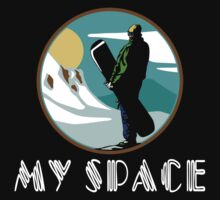 "Snowboarding ""My Space"" Black Kids Clothes"