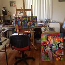 My studio by Karin Zeller