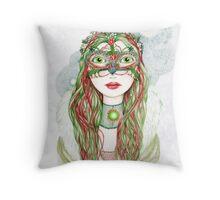 The Yuletide Princess Throw Pillow