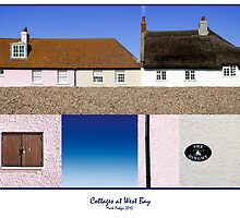 Cottages at West Bay - Collage by Mark Podger